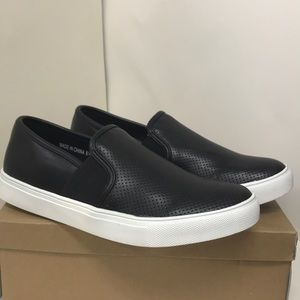 Kaley-01(P)  Perforated Slip on Sneakers
